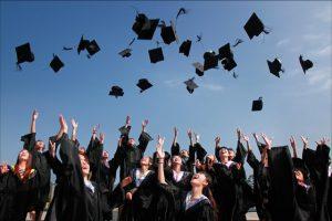 Graduation Cap Throwing Tradition