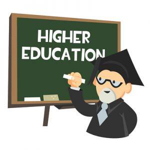 cartoon Professor at chalkboard