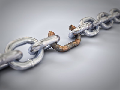 Chain with weak link